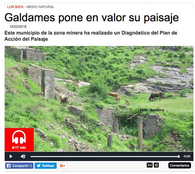 El paisaje de Galdames en Radio Euskadi